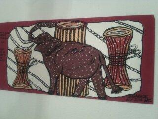 Le coeur d'un éléphant est un tambour qui bât