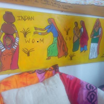 femmes indiennes(127cm-48cm)
