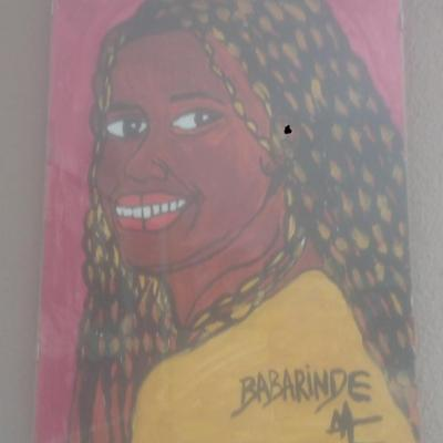 portrait femme tréssée(40cm-30cm)