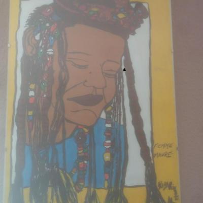 portrait femme maure(40cm-30cm)