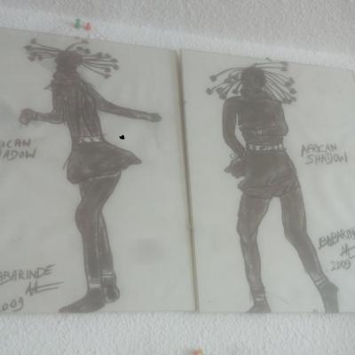 deux danseuses, African shadows(40cm-30)
