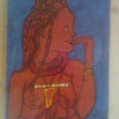 portrait femme Himba(40cm-30cm)