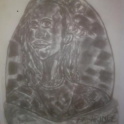 portrait femme/WOMAN PORTRAIT (65cm-50cm)