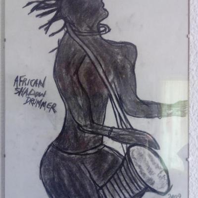 African shadow drummer(40cm-30cm)