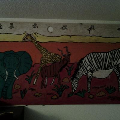 Les animaux: Girafe, Koudou, Eléphant, Zèbre/ ANIMALS: GIRAFFE, KUDU, ELEPHANT, ZEBRA