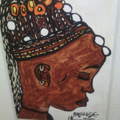 Portrait tête femme africaine.